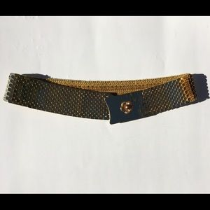 Accessories - Gold Plated Floral Detail Stretch Belt
